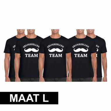 Maat T Heren Shirt Zwart 5x Vrijgezellenfeest LGoedkope Team LcRj54q3A
