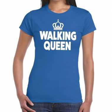 Avondvierdaagse shirt walking queen blauw dames