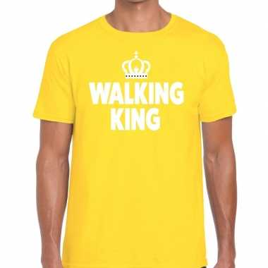 Avondvierdaagse shirt walking queen geel heren