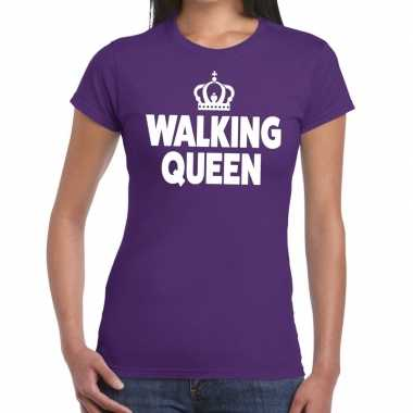 Avondvierdaagse shirt walking queen paars dames