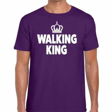 Avondvierdaagse shirt walking queen paars heren
