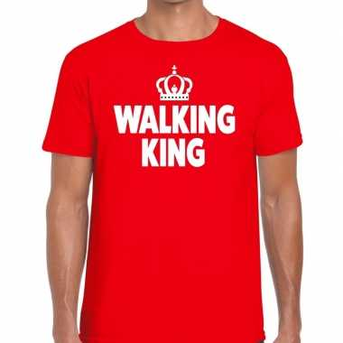 Avondvierdaagse shirt walking queen rood heren