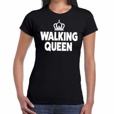Avondvierdaagse shirt walking queen zwart dames