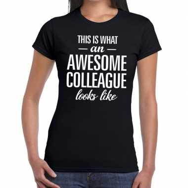 Awesome colleague tekst t shirt zwart dames