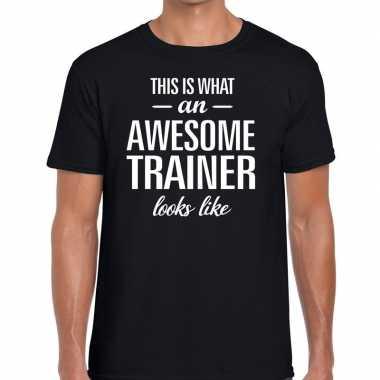 Awesome trainer cadeau t shirt zwart heren