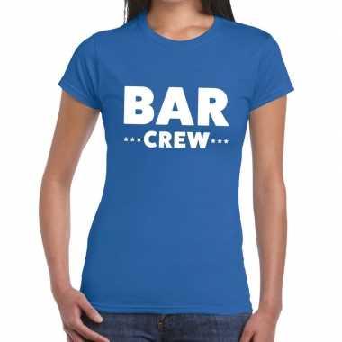 Bar crew shirt blauw dames
