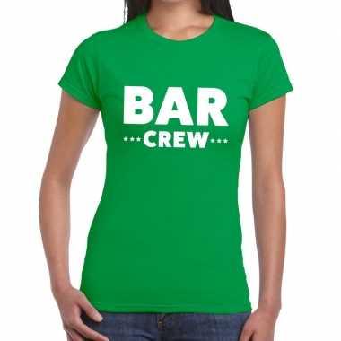 Bar crew shirt groen dames