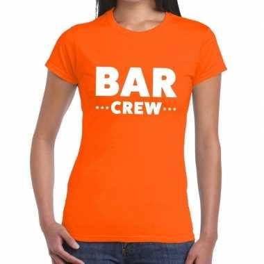 Bar crew shirt oranje dames