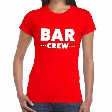 Bar crew shirt rood dames