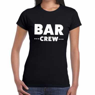 Bar crew shirt zwart dames