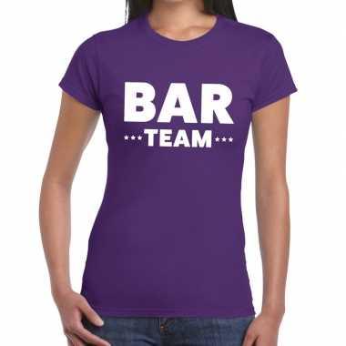 Bar team shirt paars dames