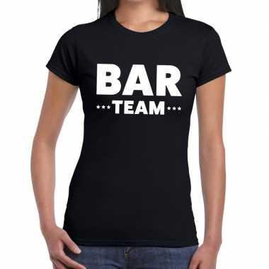 Bar team shirt zwart dames