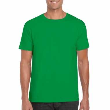 Basic groen shirt heren xs