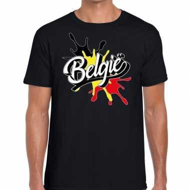 Belgie t shirt spetter zwart heren