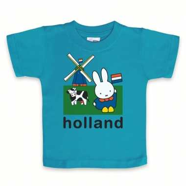 Blauw baby t-shirt nijntje holland
