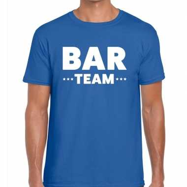 Blauw bar team shirt heren