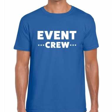 Blauw event crew shirt heren