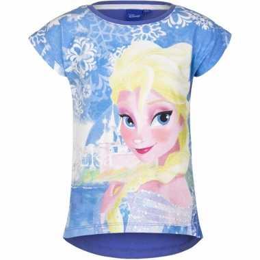 Blauw shirt frozen meisjes