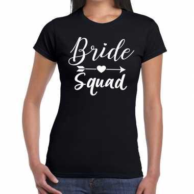 Bride squad cupido t shirt zwart dames