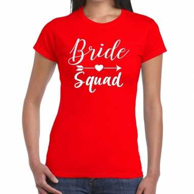 Bride to be cupido t shirt rood dames