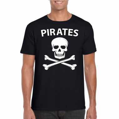 Carnavalskleding piraten shirt zwart heren