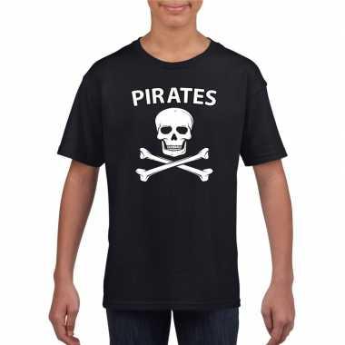 Carnavalskleding piraten shirt zwart kinderen