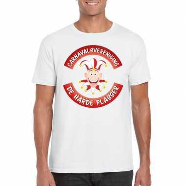 Carnavalsvereniging harde plasser brabant heren t shirt wit