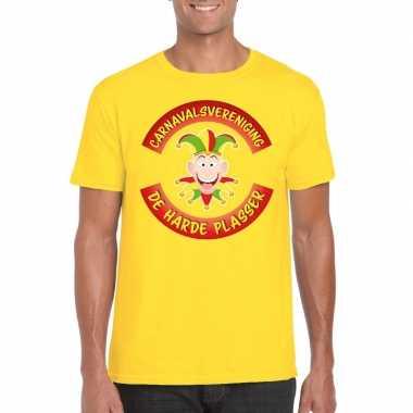 Carnavalsvereniging harde plasser limburg heren t shirt geel
