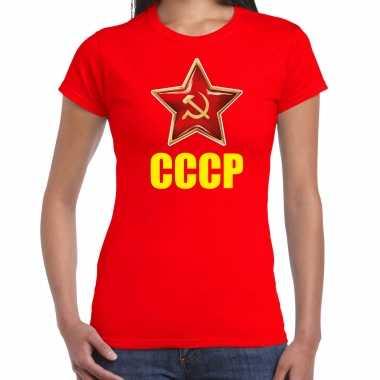 Cccp / sovjet unie verkleed t shirt rood dames