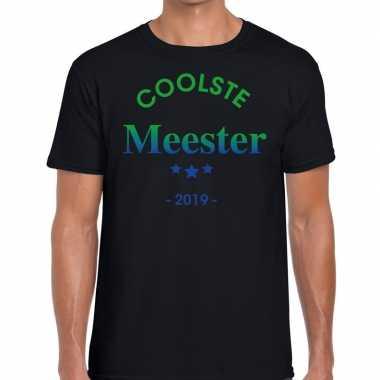 Coolste meester 2019 cadeau t-shirt zwart heren
