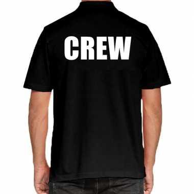 Crew grote maten poloshirt zwart heren