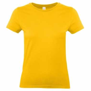 Dames t shirt goud geel ronde hals