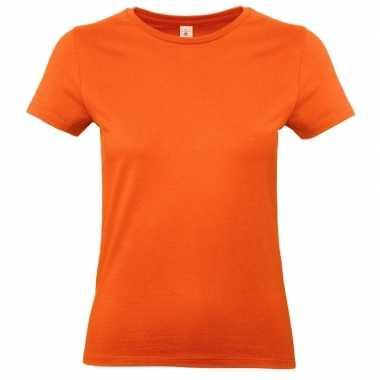 Dames t shirt oranje ronde hals