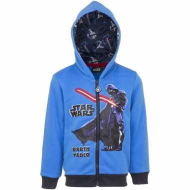 Darth vader sweatshirt jongens. blauw