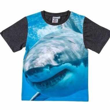 Dieren shirts fotoprint haai kinderen