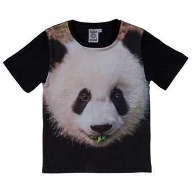 Dieren shirts fotoprint pandabeer kinderen