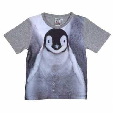 Dieren shirts fotoprint pingu?n kinderen