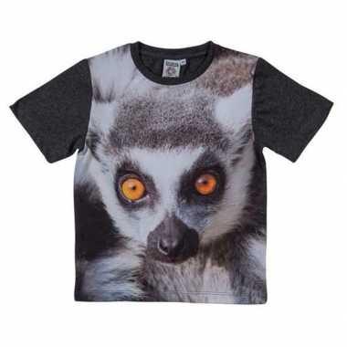Dieren shirts fotoprint ringstaart maki aap kinderen