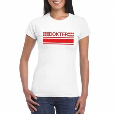 Dokter logo t shirt wit dames
