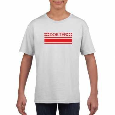 Dokter logo t shirt wit kinderen