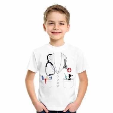 Doktersjas kostuum t-shirt wit kinderen