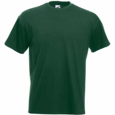 Donker groene t shirts korte mouwen heren