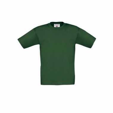Donkergroen t-shirt kinderen