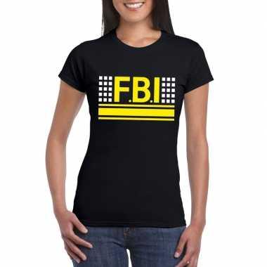 Fbi logo t shirt zwart dames