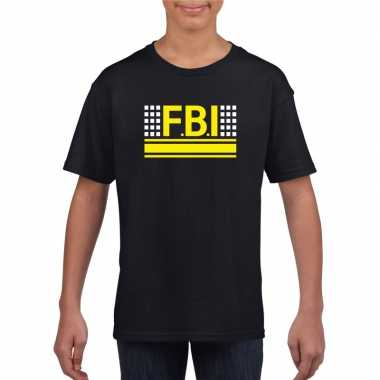 Fbi logo t shirt zwart kinderen
