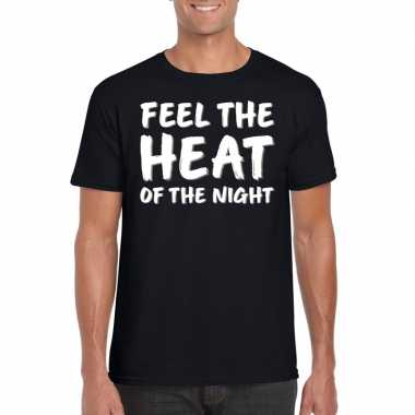 Feel the heat tekst t shirt zwart heren