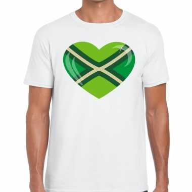 Festival shirt i love zwarte cross wit heren