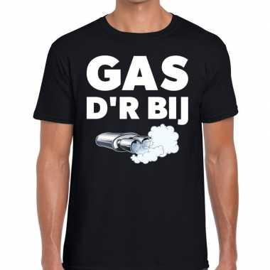 Festival shirt zwarte cross gas der bij zwart heren