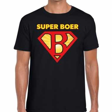 Festival shirt zwarte cross super boer zwart heren