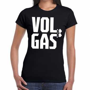 Festival shirt zwarte cross vol gas zwart dames